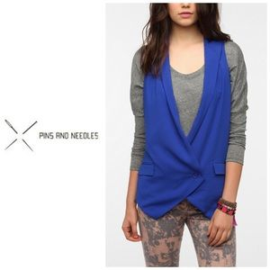 Pins And Needles Blue Drapey Vest